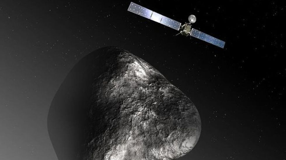 Space probe Rosetta makes historic rendezvous with comet after 10-year chase