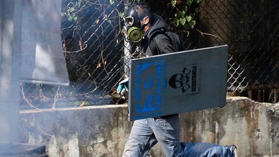 Anti-government protestors take to the streets of Venezuela
