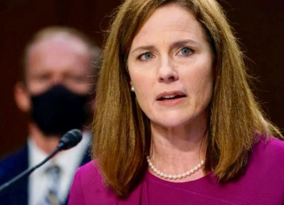 'Some next level BS': Amy Coney Barrett blasted over claim US Supreme Court isn't a 'bunch of partisan hacks'