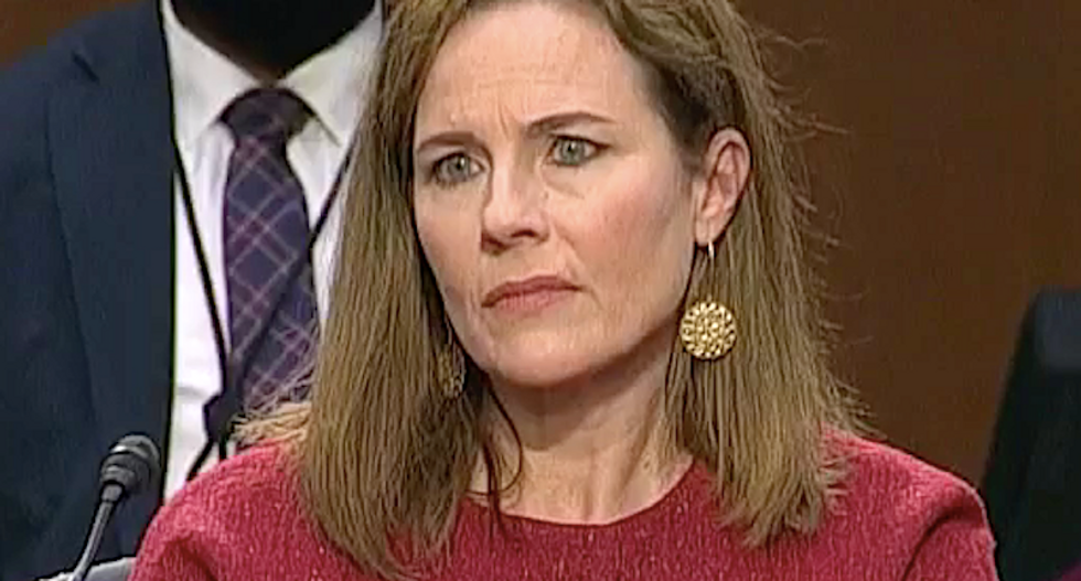 Barrett slammed for refusing to recuse herself from case involving Koch-funded group that bankrolled ads for her confirmation
