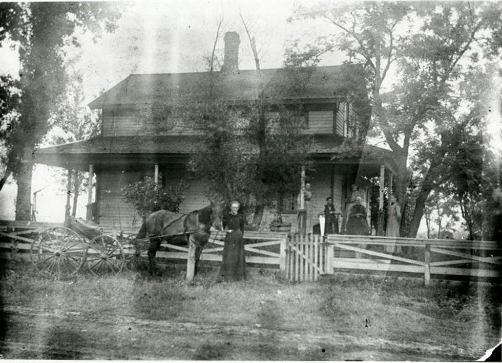 An old Wisconsin farmhouse around the Civil War period.