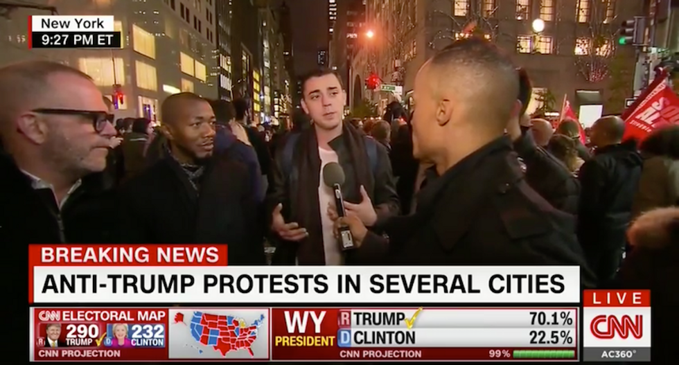 Anti-Trump protester has perfect response for why he'll never support Donald Trump
