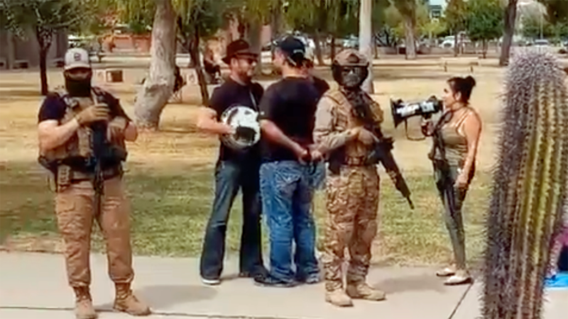 Bizarre pictures from Arizona as anti-vaxxers and election conspiracy theorists swarm the state Capitol