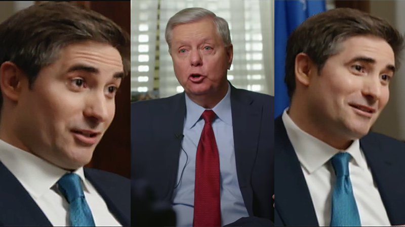 'You don't really believe that do you?' Axios reporter's bizarre interview with Lindsey Graham