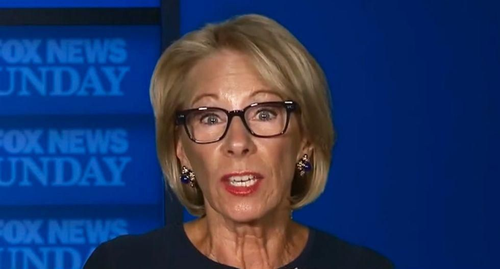Betsy DeVos offers veiled criticism of GOP's infatuation with Trump