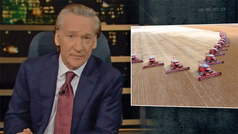 Bill Maher goes on angry rant about Big Ag for 'Bogarting' California water during drought