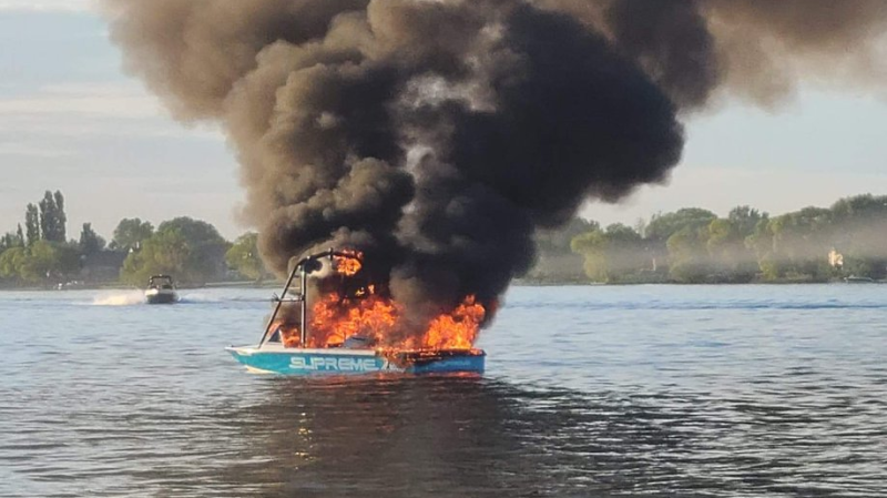 WATCH: Boat explodes just after passengers harass family with Pride flag