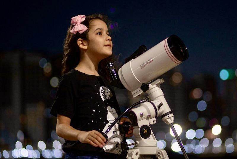Head in the sky: 8-year-old Brazilian girl dubbed world's youngest astronomer