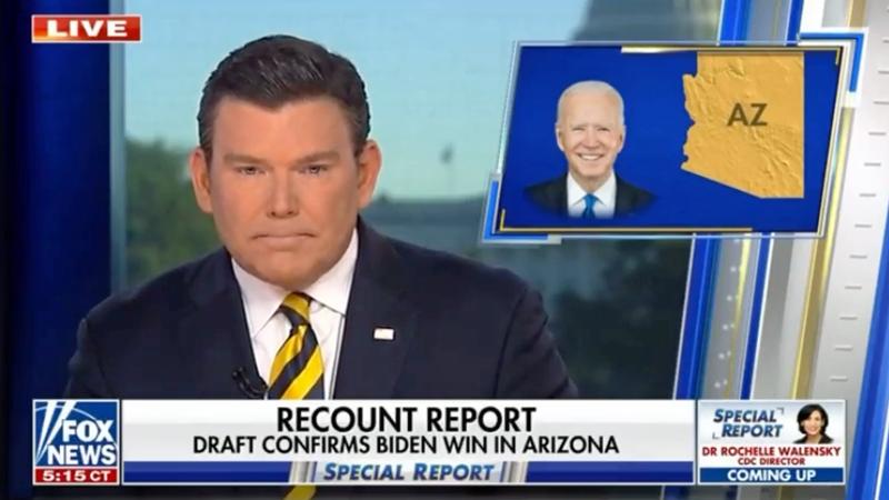 Fox News calls Arizona for Joe Biden again -- right as Trump sends out angry attack on 'fake news'