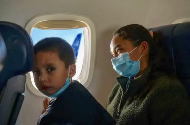 For migrants, arduous US journey ends with sigh of relief on a plane