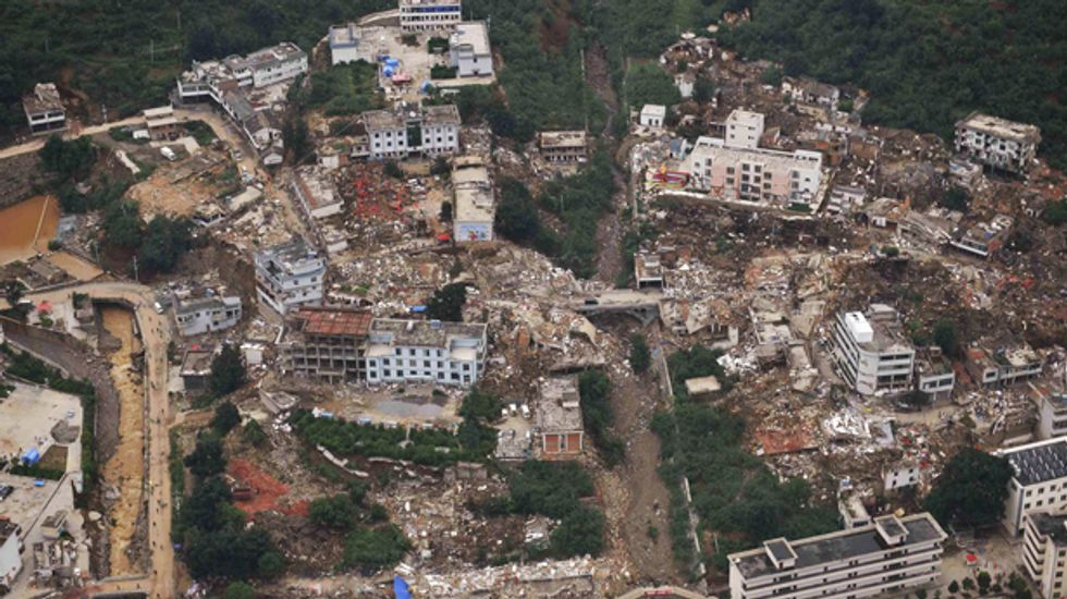 Death toll from China earthquake nears 600 as volunteers urged to stay away