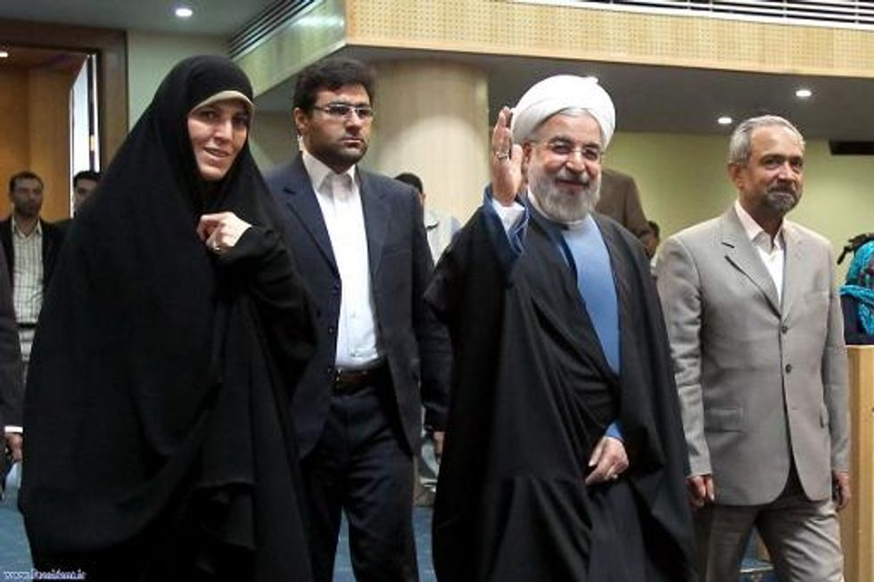 Iranian President Rouhani insists women are not second-class citizens