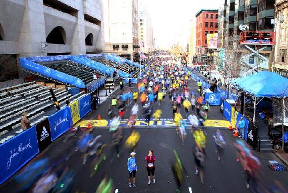 Participants in Boston Marathon mindful of tragedy