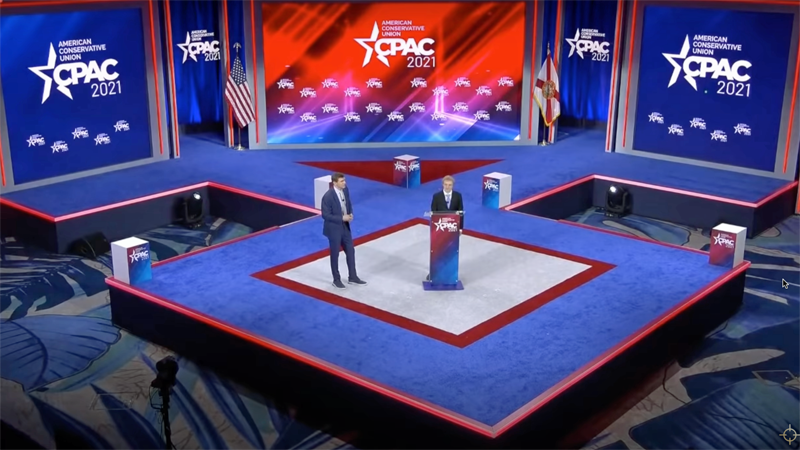 CPAC lashes out at Hyatt after hotel chain says stage resembling a Nazi rune is 'abhorrent'
