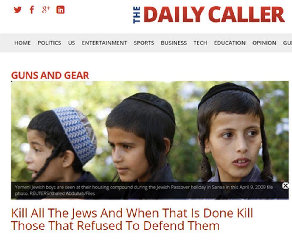 Daily Caller screenshot