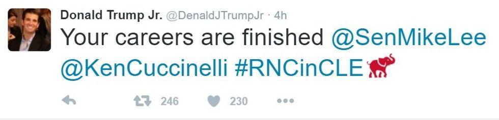 Denald J Trump jr tweet