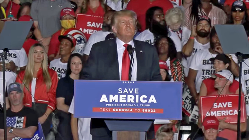 Trump sought to settle scores during dark speech in Georgia that lasted over 90 minutes