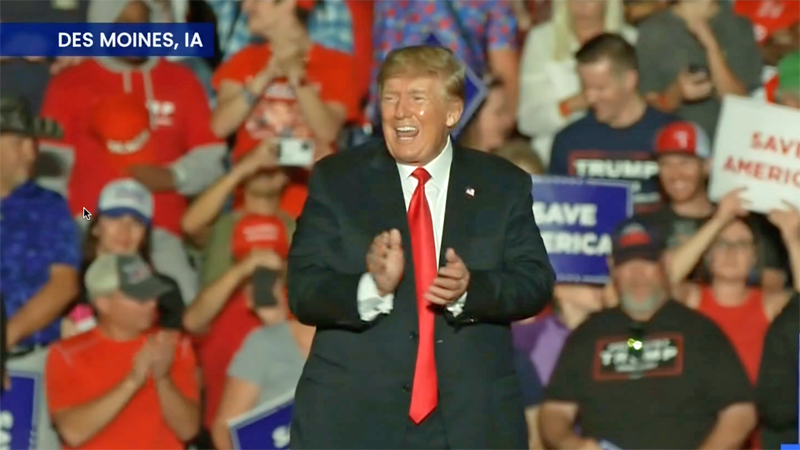 Trump reveals why he keeps spreading his 'Big Lie' at Iowa rally