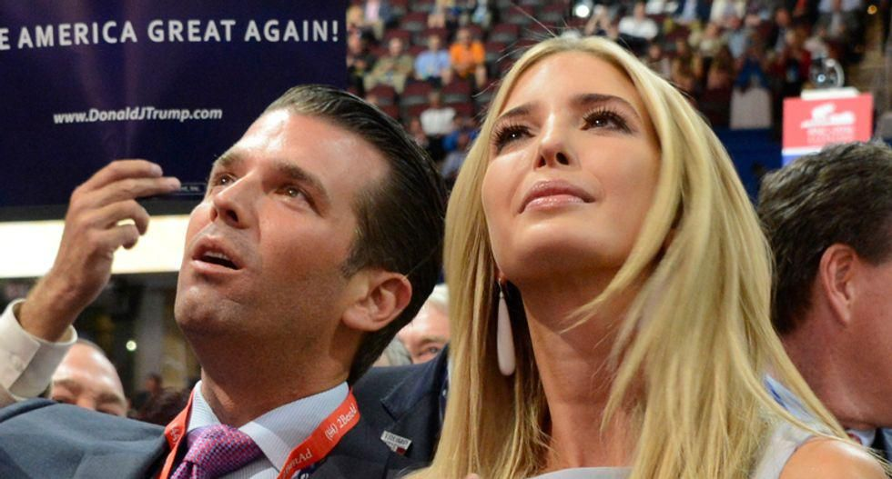 Social media activity suggests 'trouble brewing' for Ivanka and Donald Trump Jr