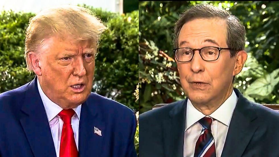 Chris Wallace says he's 'grateful' to be living 'rent-free' in Donald Trump's brain