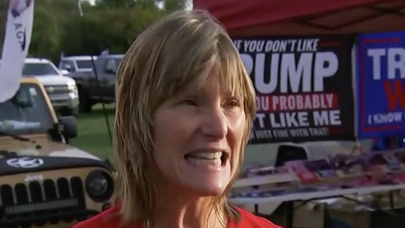 'I see a civil war coming': Trump supporter rages at government before Des Moines rally