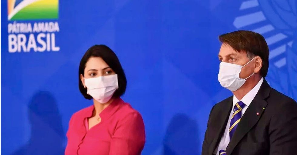 Brazil first lady tests positive for coronavirus