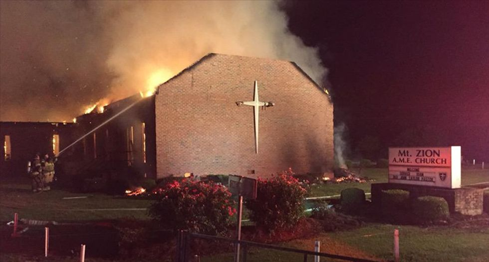 Federal investigators say black church fires around the South are unrelated