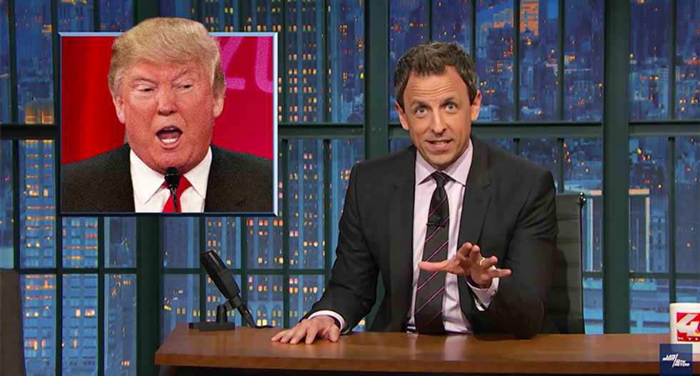 Seth Meyers: Phony spokesman story shows Trump is a liar and a clown — and possibly out of his mind