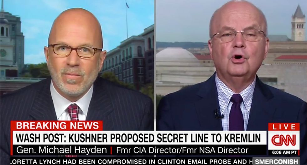 Ex-CIA head Hayden rips Jared Kushner for 'ignorance and hubris' over Russian back-channel overtures