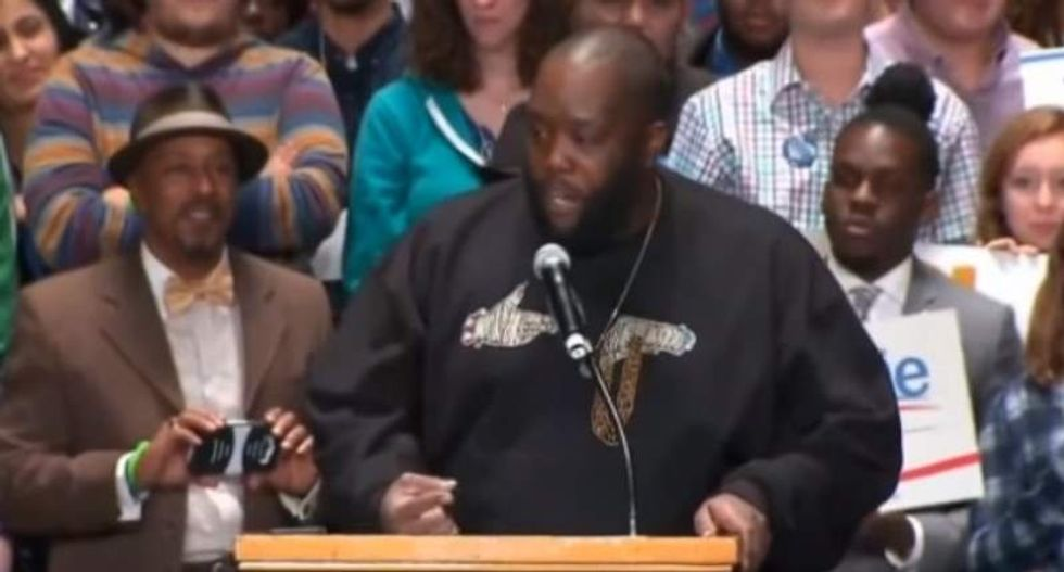 The feminist, anti-racist educator Killer Mike quoted and the media calls 'a woman'