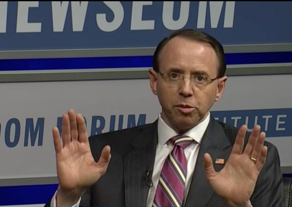 Trump administration gives up on filling next in line position under Rosenstein -- because no one will take the job