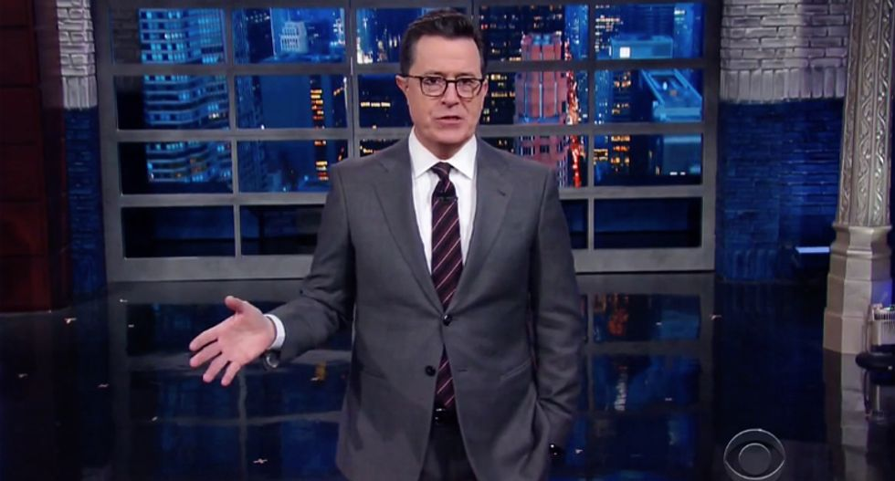 Stephen Colbert rips Sean Spicer's disastrous press conference: ''He's the M.C. Escher of bullsh*t'