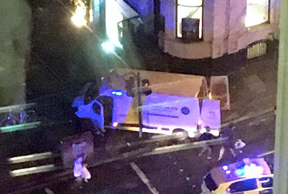 'Multiple casualties' reported in London stabbing and vehicle attacks