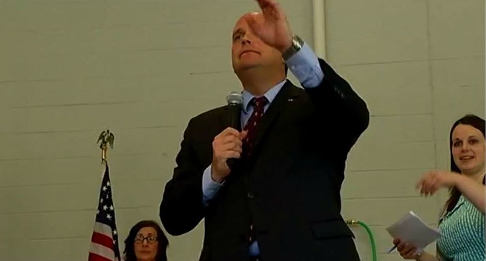 'Vote him out!': Protesters shut down New York GOP congressman's health care town hall