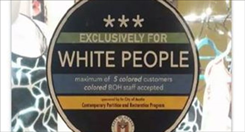 Austin businesses slapped with mysterious stickers: 'Exclusively for white people'