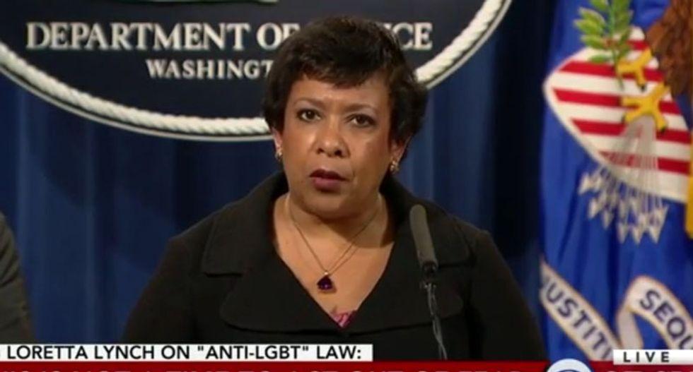 Loretta Lynch destroys North Carolina for 'state-sponsored discrimination' against trans people