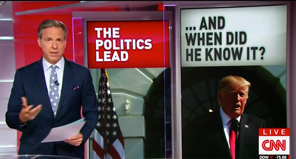 WATCH: CNN's Jake Tapper mocked Donald Trump for 'knowing a lot about a meeting he said he didn't know about'