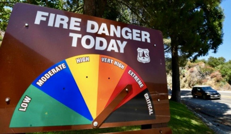 California fire triggered by 'gender reveal firework'