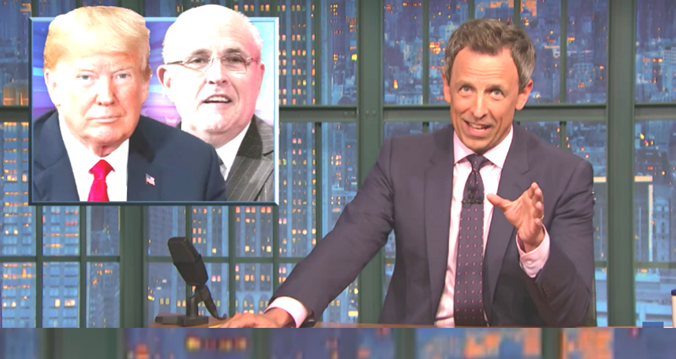 Seth Meyers mocks Rudy Giuliani for telling Fox News 'don't quote me on that' during an actual TV interview