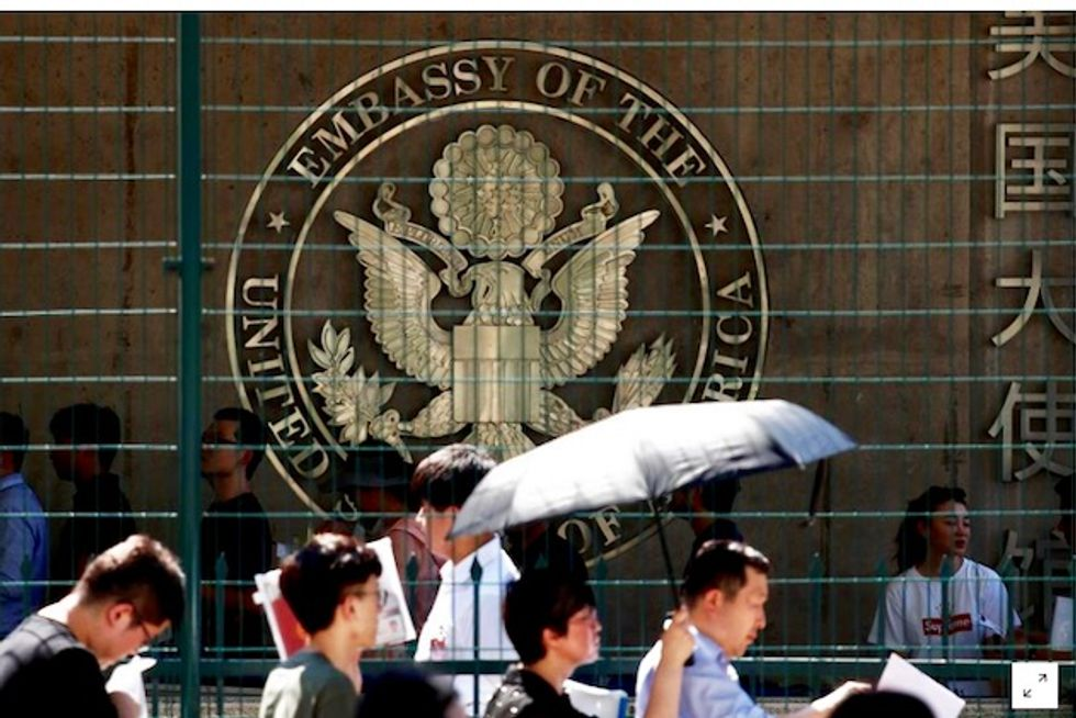 Lone suspect wounded in blast near US embassy in China