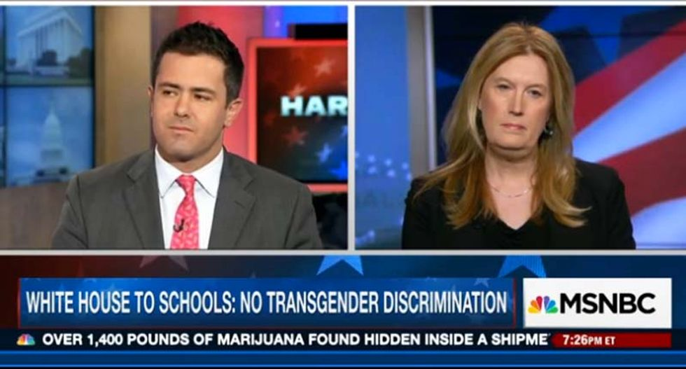 WATCH: Anti-LGBT activist squirms when asked on camera what bathroom a trans woman should use