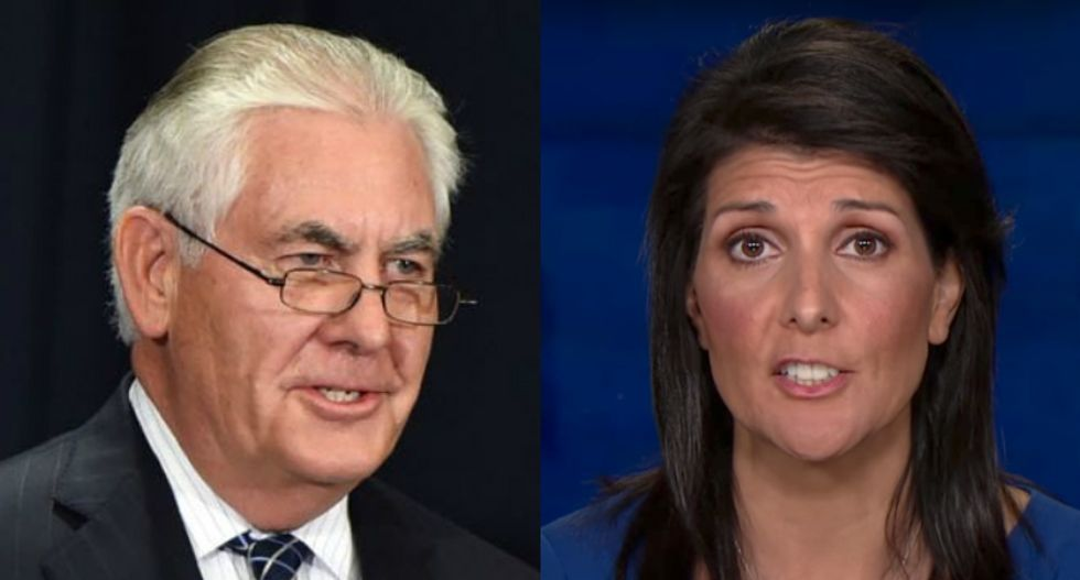 Nikki Haley accuses Rex Tillerson and John Kelly of trying to recruit her to undercut Trump: report
