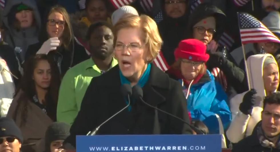 Senator Warren launches 2020 campaign, sounds note of economic equality