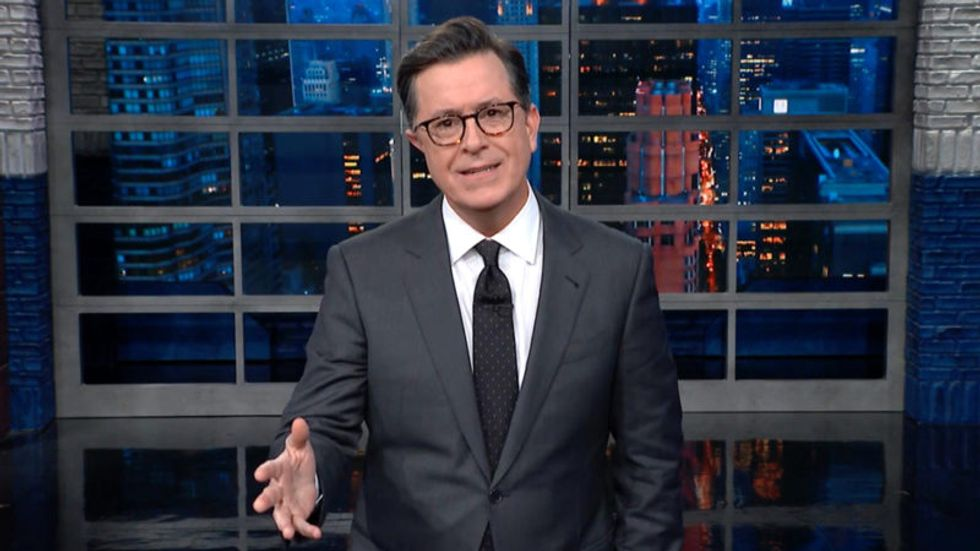 Colbert defines 'no collusion' as Trump's aloha: 'It means both hello and I'm guilty'