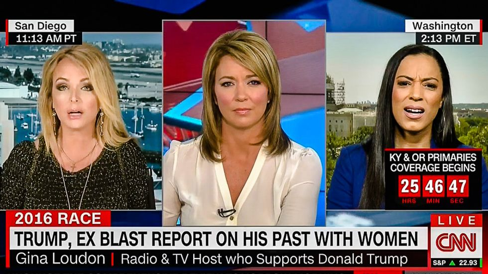 Angela Rye fires back at Trump backer: If Hillary is an 'enabler' what does he call his three wives?