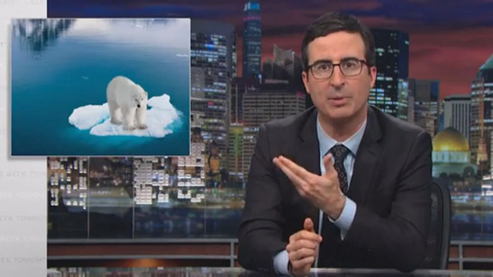 Watch John Oliver's classic climate debate -- framed as if science matters