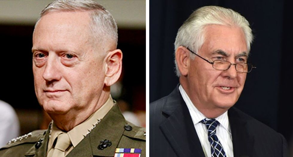 'He's not in charge': US ally's defense minister says Mattis and Tillerson ignore Trump -- and make their own policy