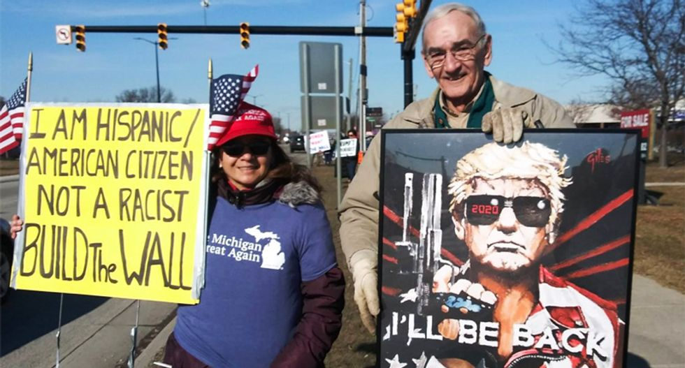 Michigan pro-Trump rally draws 50 wall supporters: 'Minorities are being used by Communists for political gain'