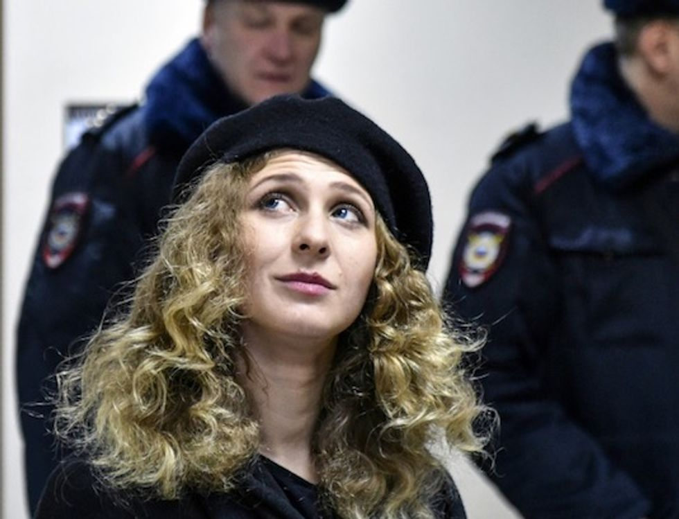Russia stops Pussy Riot member leaving country
