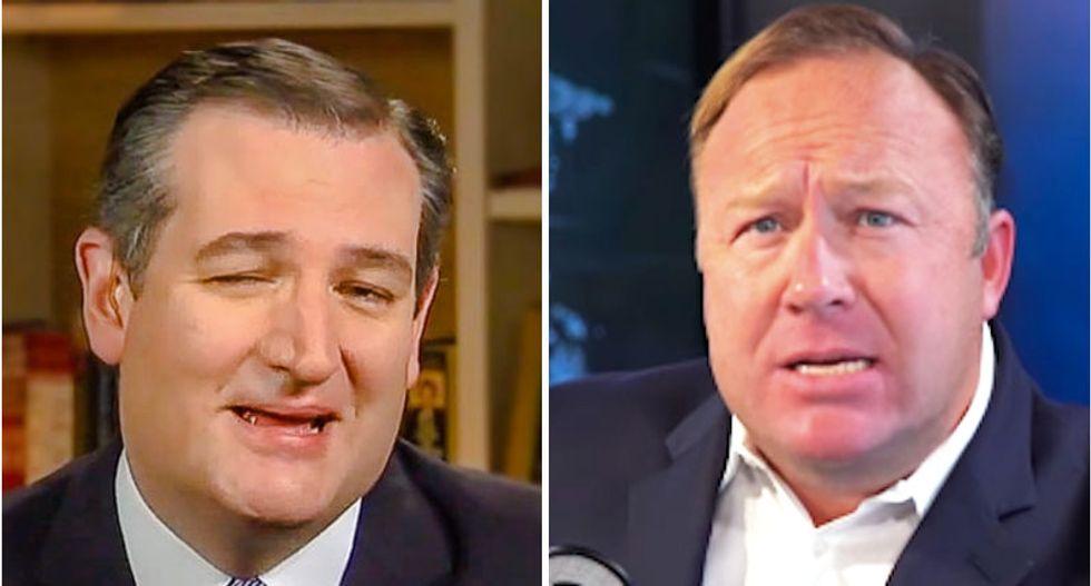 Morning Joe guest reveals why 'repulsive' Ted Cruz is rushing to the defense of conspiracy kook Alex Jones